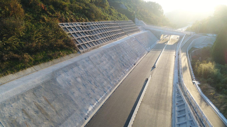 九州横断道(嘉島~山都)倉道地区22期改良イメージ