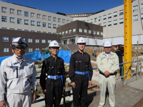 開新高等学校土木建築科より2名の生徒さんが現場実習に来られました!