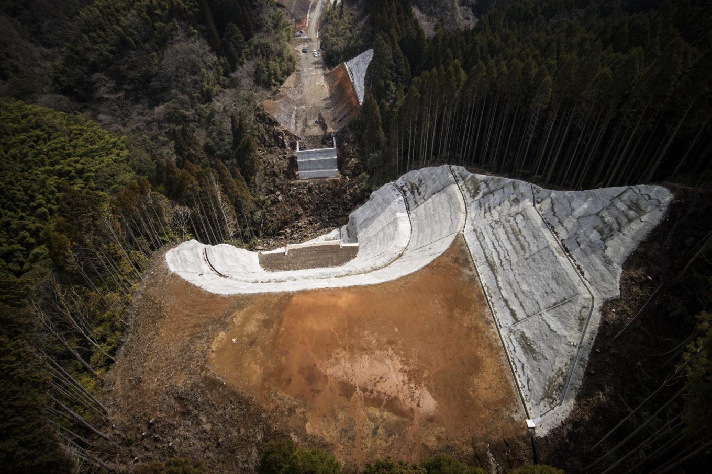 九州横断道(嘉島~山都)小皿木橋下部工イメージ
