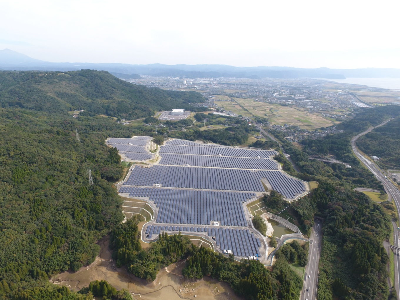 霧島隼人太陽光発電所造成イメージ