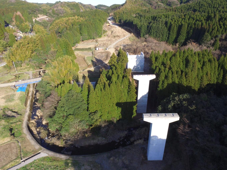 九州横断道(嘉島~山都)滑川橋下部工(P4,A2)イメージ