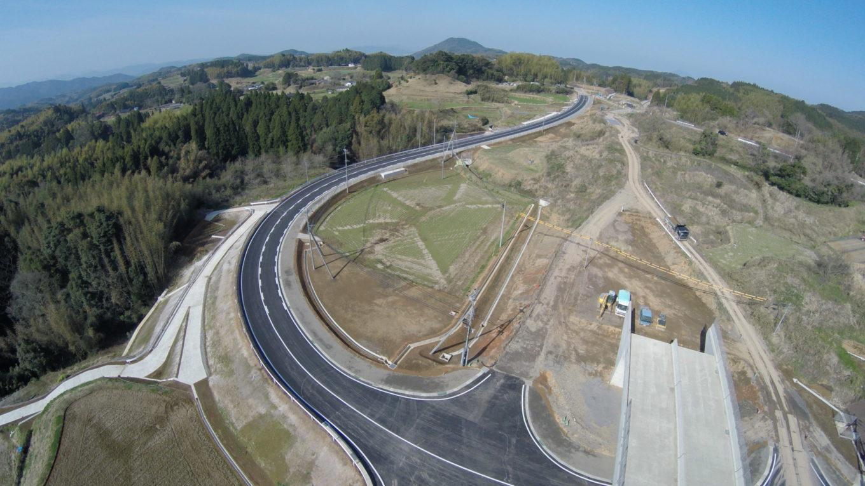 九州横断道(嘉島~山都)上野地区改良3期イメージ