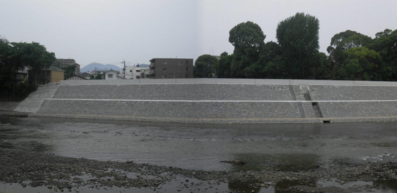 白川子飼下流地区築堤護岸イメージ