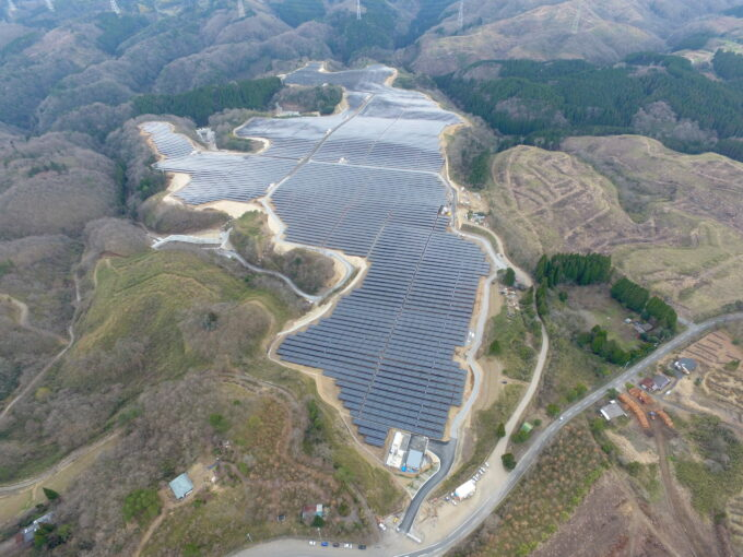 大分太陽光発電所造成工事イメージ